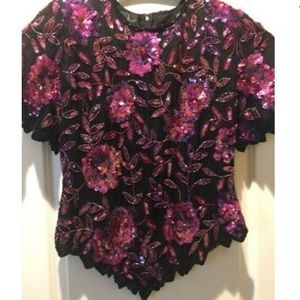 Beautiful size 12 Laurence Kazar 100% silk blouse